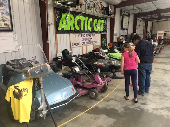 A look at the Arctic Cat display within the Peder Engelstad Pioneer Village