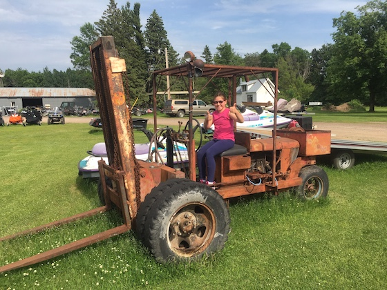 My daughter found the original AC forklift that Roger Skime had a hand in building for the factory, which Tom Rowland purchased from Aaron Johnson. Son of David Johnson of Polaris fame.
