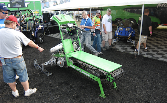 The World's Fastest Treadmill on display at the 2009 Haydays event