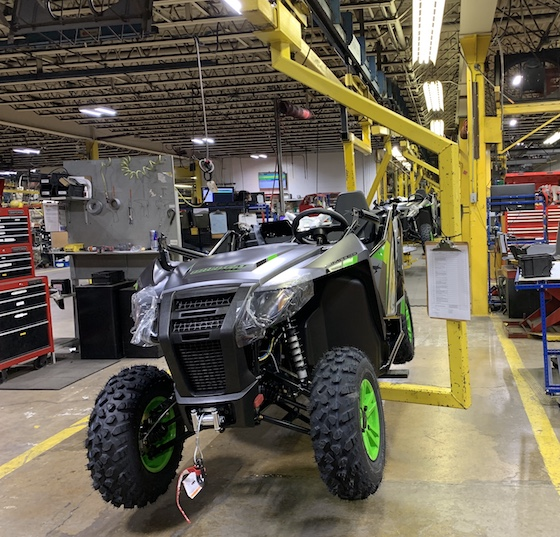 Arctic Cat Offroad Wildcat Trail Limited models rollin down the line
