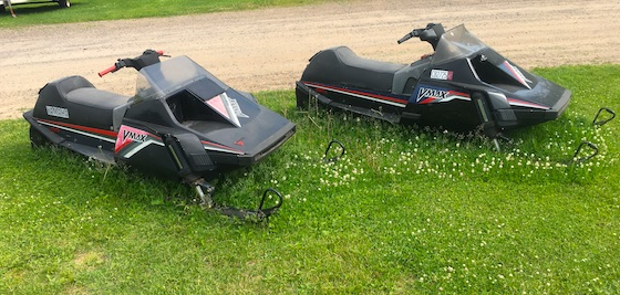 This pair of Vmax models were captured grazing while sent to pasture at Thomas Sno Sports