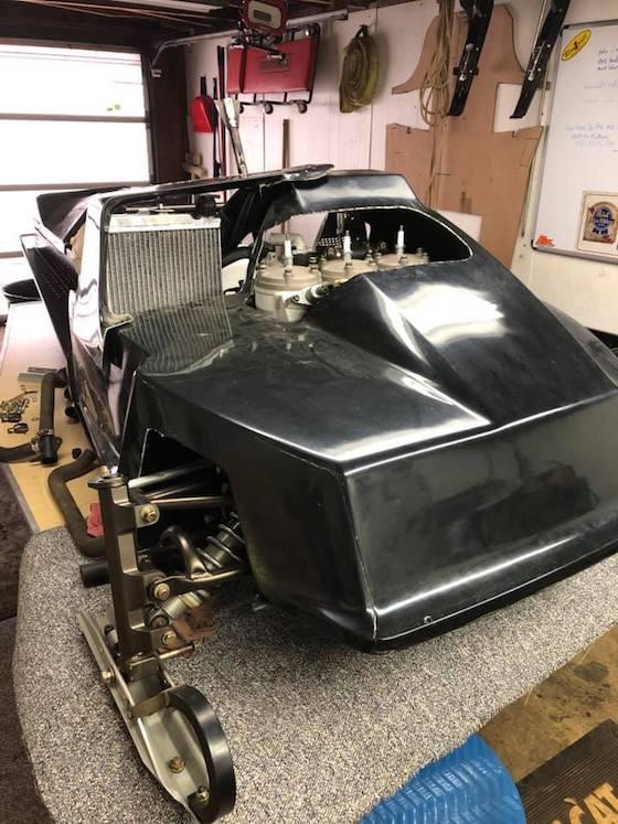 A mock-up of Jim Dimmerman's SnoPro 1100 triple