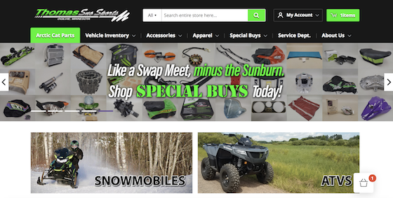 Check out the newly revamped ThomasSnoSports.com online store