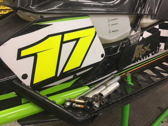 Number plates, Grip Strips and Handguards were a few cool Rox Speed FX parts on Brown's ZR