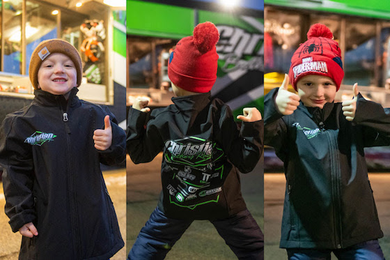This image makes me smile! Happy Kids winning CBR Merchandise...and that Spiderman Hat! Yes!!