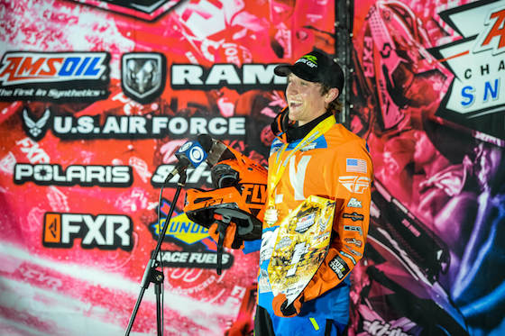 Yurk was all smiles on the podium