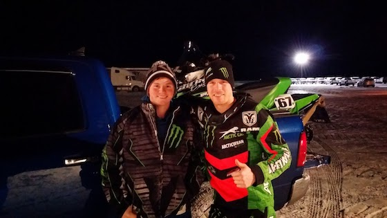 Jeff's son JJ with Tucker Hibbert