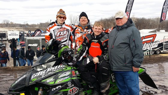 Jeff, his sons, and his dad at ERX Red Bull National
