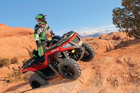 One of my favorite rides in Moab, UT when the 2015 Alterra was introduced to the Media. Photo by John Arens ATV Illustrated