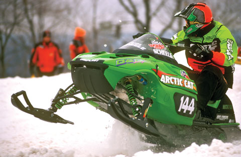 Team Arctic's Aaron Scheele racing WSA SX in '01
