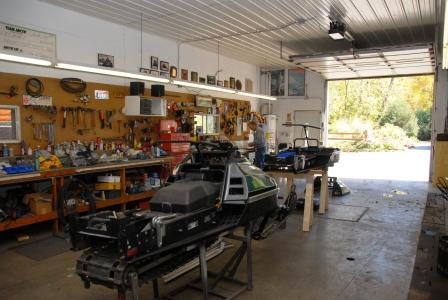 Inside Nelson's race shop