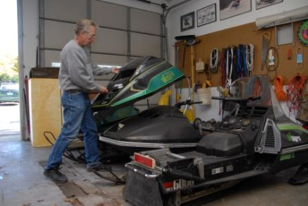 Brian Nelson with a few of his Arctic Cat CC Cats