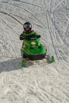 Cal riding the Arctic Cat ZR120
