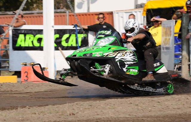 Scott Moser on the winning Arctic Cat CFR 800