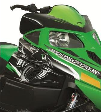 Arctic Cat Green Chrome Windscreen