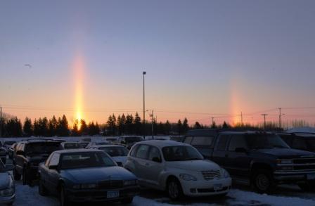 Sun dogs at Arctic Cat