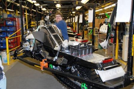 2011 F8 EXTs rolling off the assembly line at Arctic Cat