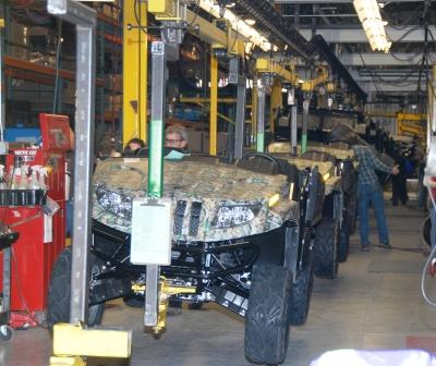 Arctic Cat Prowler HDX models on the assembly line