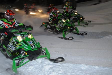 Arctic Cat is first to the first turn...most of the time
