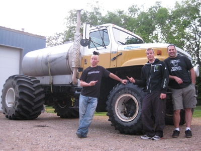 Monster watering truck