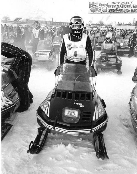 Brian Nelson at the 1978 I-500, photo from the C.J. Ramstad Archives