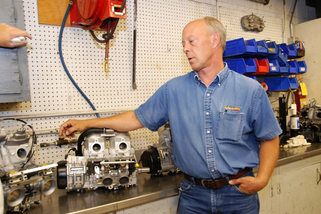 Greg Spaulding with Arctic Cat engines