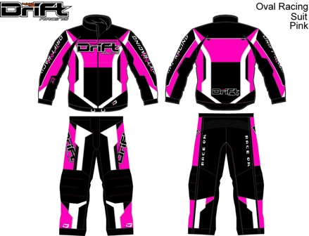 Illustration of P.J.'s pink DRIFT gear