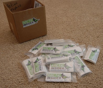 A big box of arcticinsider decals