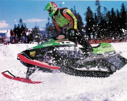 Blair Morgan on Team Arctic in West Yellowstone, 1998