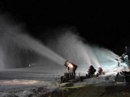 Making snow at Duluth