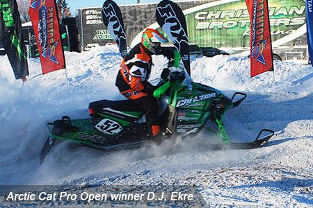 DJ Ekre led an Arctic Cat sweep of Pro Open