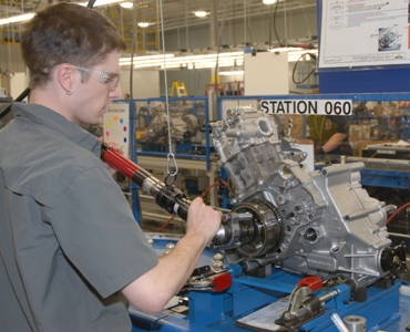 Engine production at Arctic Cat's St. Cloud facility