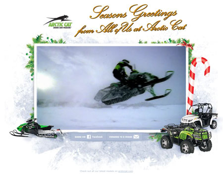 Arctic Cat's greetings for the season