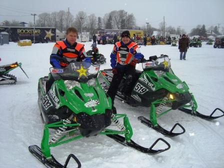 Mike Van Muyen & Phil Molto on their Arctic Cat Sno Pros