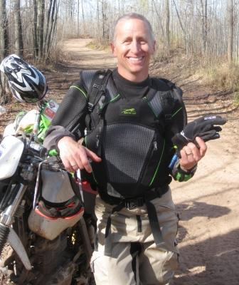 Moto-testing Arctic Cat vest and gloves