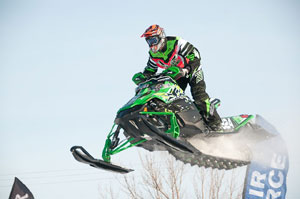 Kyle Pallin of the Factory Arctic Cat team won the other Semi Pro Stock final