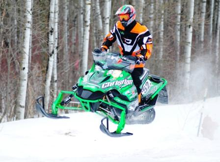 DJ Ekre swept the second race at Red Lake, photo by SledRacer