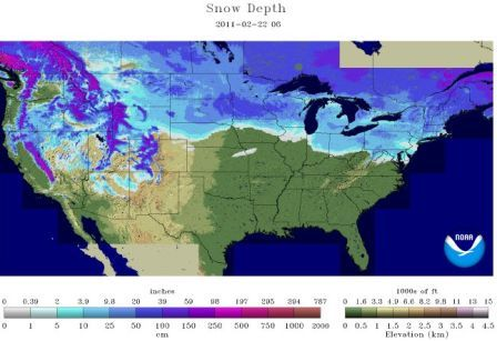 Snow Depth 2.22.11