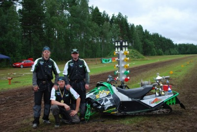 At a grass drag race in Sweden