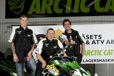 L-to-R: Team Arctic Swedish Draggers Patrik Löfdahl, Henrik Nordenskiöld and Mats Lager