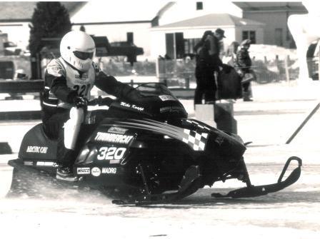 Mike Knapp aboard a '93 Arctic Cat Thundercat