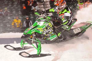Factory Arctic Cat Semi Pro, Cody Thomsen, won one Semi Pro class at Fargo